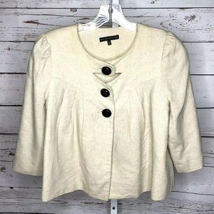 Miss me collection linen button front jacket Large